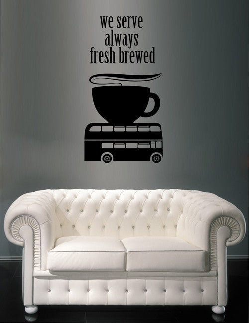 ik1725 Wall Decal Sticker English tea coffee coffeehouse Restaurant
