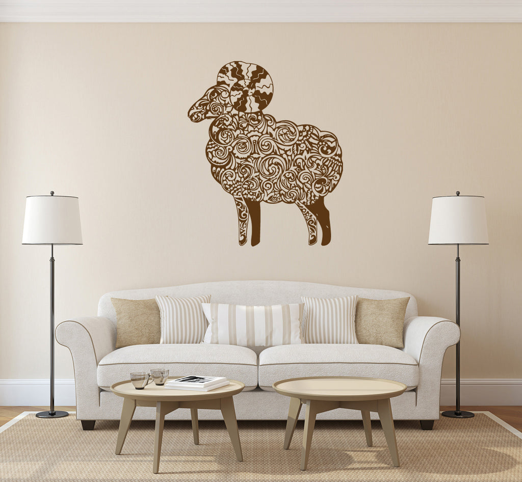 ik172 Wall Decal Sticker Decor delicate sheep hoed animal interior kids