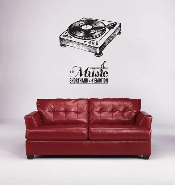 ik1744 Wall Decal Sticker music song living room bedroom