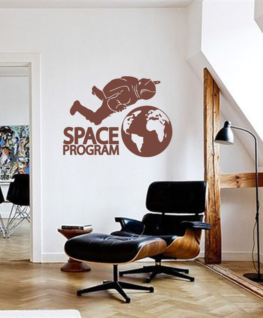 ik174 Wall Decal Sticker Decor man space astronaut Earth interior kids
