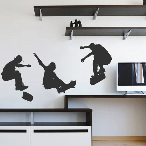 ik1755 Wall Decal Sticker skate skateboarder sport living room children bedroom