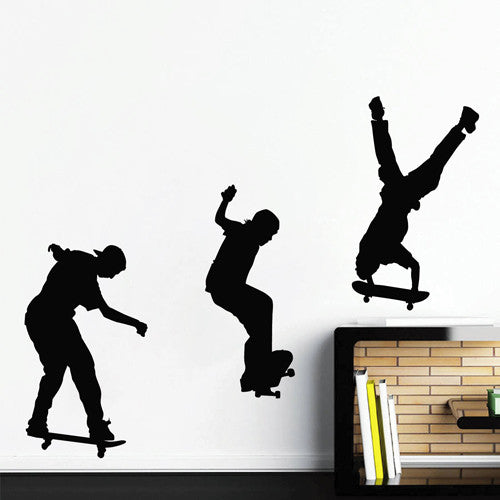 ik1756 Wall Decal Sticker skate skateboarder sport living room children bedroom
