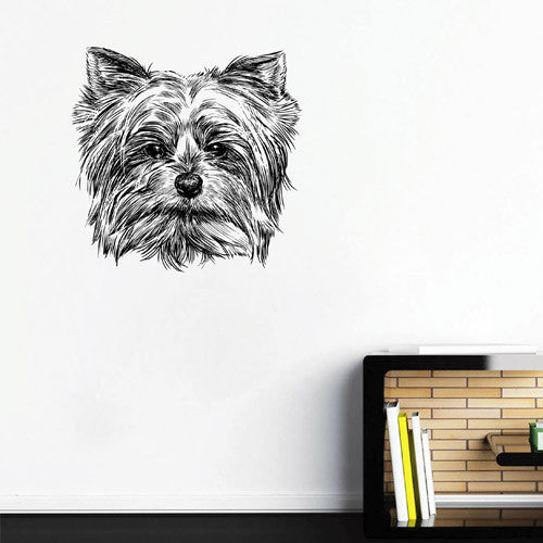 ik1757 Wall Decal Sticker head dog Yorkshire terrier living room kids bedroom