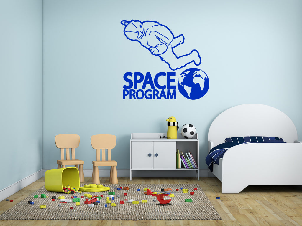 ik175 Wall Decal Sticker Decor man space astronaut Earth interior kids