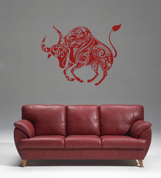 ik1762 Wall Decal Sticker Bull steampunk abstract bedroom living room