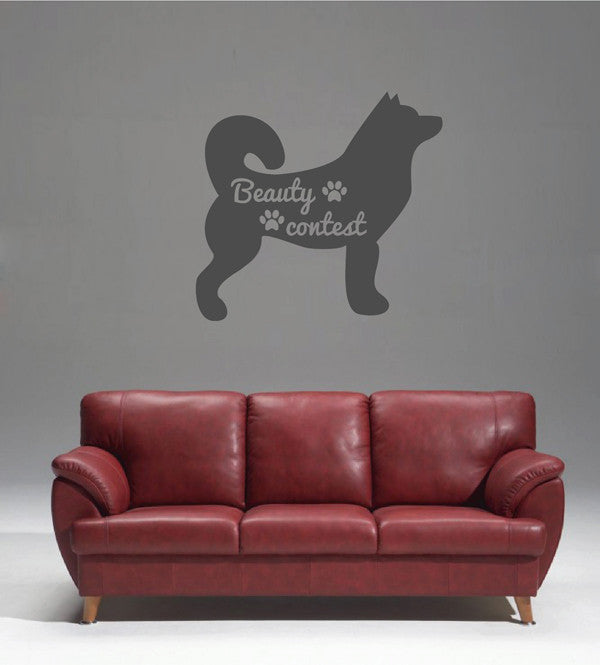 ik1763 Wall Decal Sticker Laika the dog salon for dogs