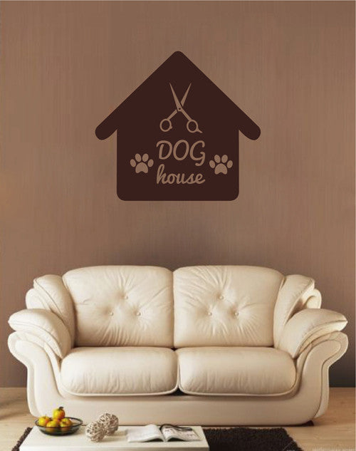 ik1766 Wall Decal Sticker Dog Puppy Grooming Salon booth for dogs