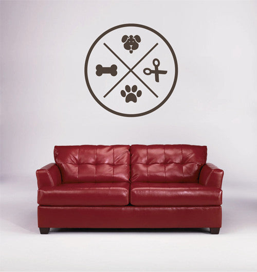 ik1768 Wall Decal Sticker Dog grooming salon for dogs