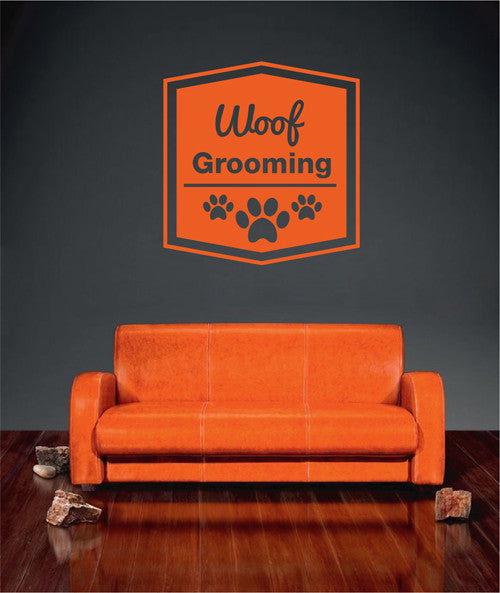 ik1769 Wall Decal Sticker Dog grooming salon for dogs