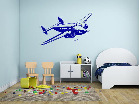 ik176 Wall Decal Sticker Decor plane sky speed height interior kids