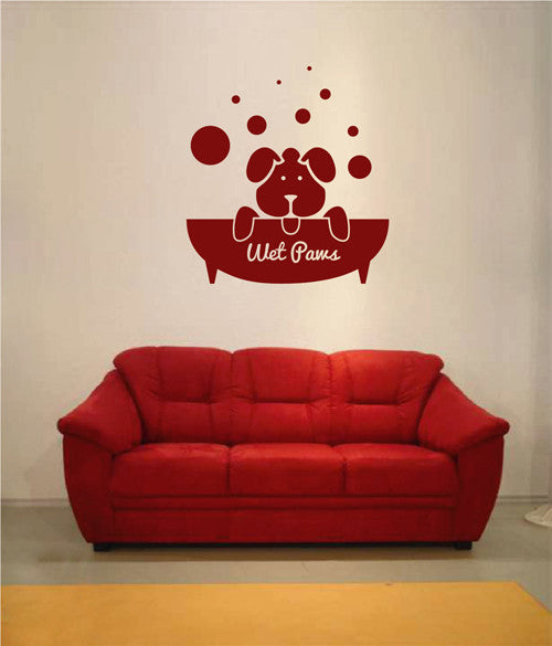 ik1770 Wall Decal Sticker Dog grooming salon for dogs