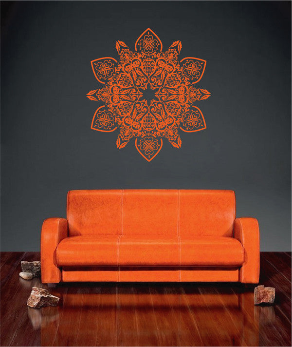 ik1771 Wall Decal Sticker mandala ornament room Bedroom