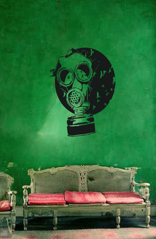 ik177 Wall Decal Sticker Decor gas mask apocalypse postapokalipsis interior