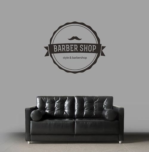 ik1787 Wall Decal Sticker barber salon styling haircut barbershop