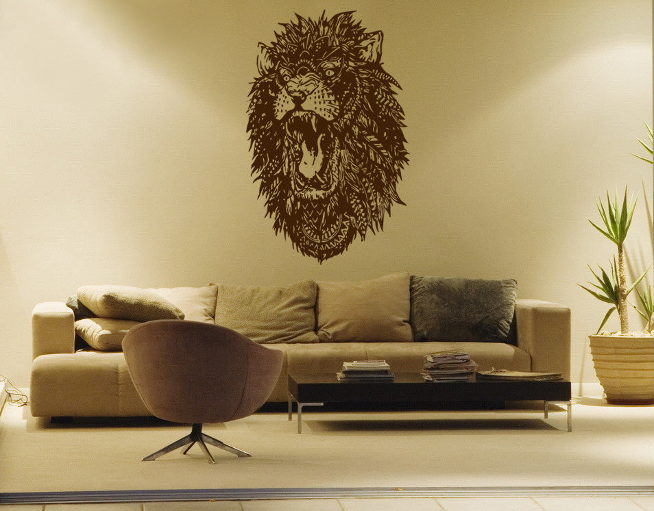 ik179 Wall Decal Sticker Decor roaring lion king beasts interior bed