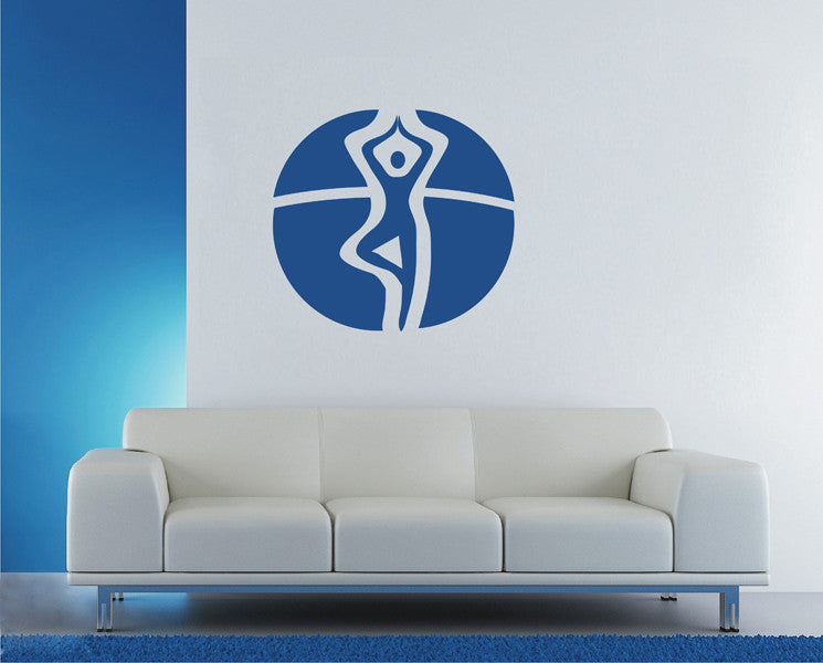 ik1783 Wall Decal Sticker yogist pose living room yoga meditation hall