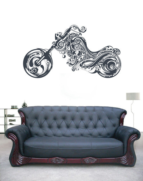 ik1805 Wall Decal Sticker Abstract motorcycle Monogram living room bedroom