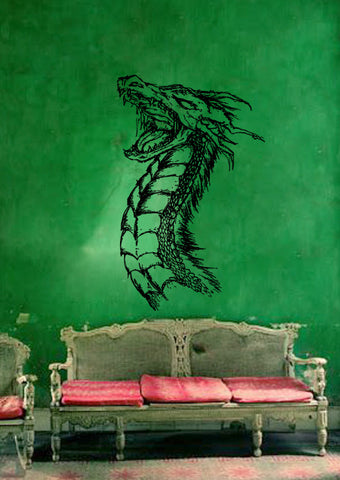 ik181 Wall Decal Sticker Decor dragon fantasy interior bed