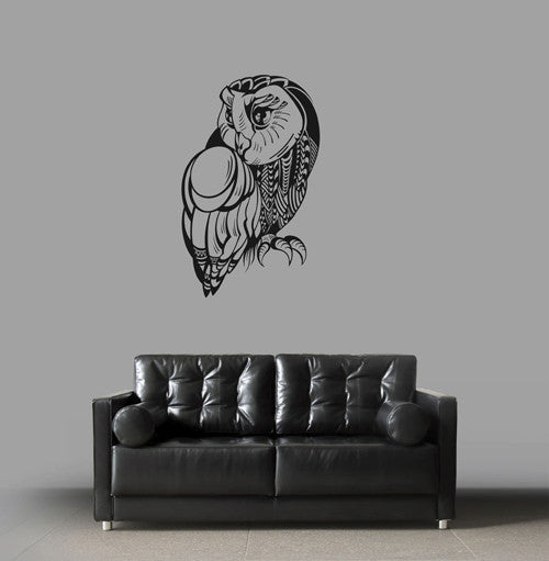 ik1821 Wall Decal Sticker owl bird animal predator living room bedroom