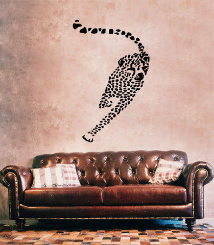 ik182 Wall Decal Sticker Decor cheetah speed animal cat africa safari predator