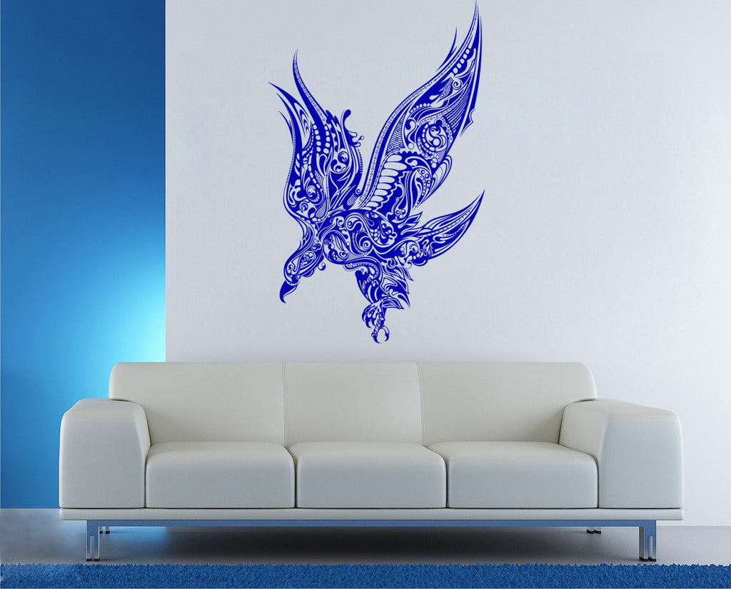ik184 Wall Decal Sticker Decor eagle flight steampunk mechanical bird predator