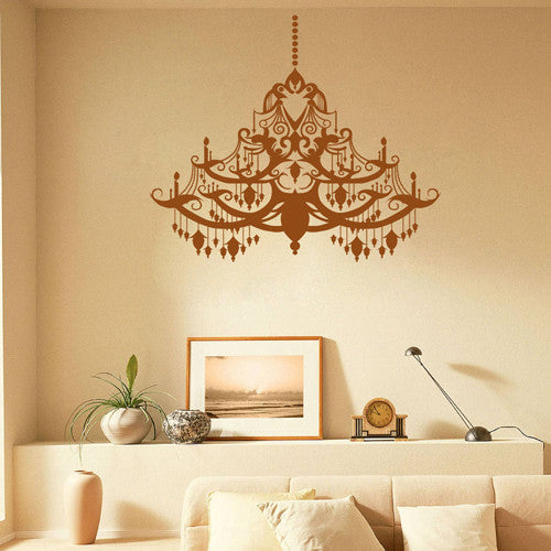 ik1859 Wall Decal Sticker Birds Vintage chandelier lamp living room bedroom