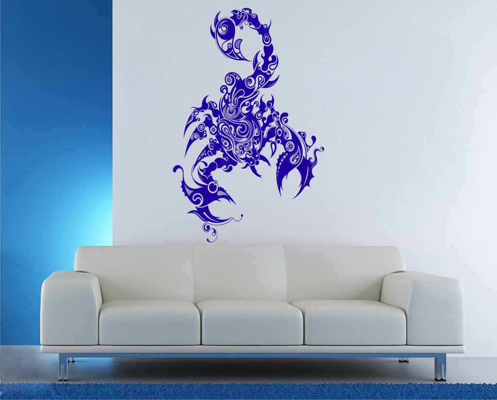 ik185 Wall Decal Sticker Decor scorpion steampunk mechanical insect horoscope