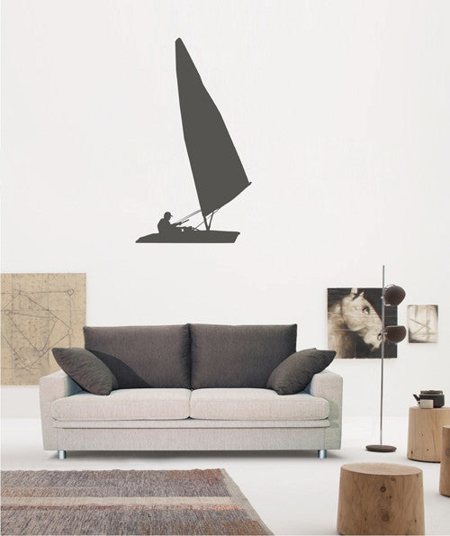 ik1861 Wall Decal Sticker sailboat sailor sea people living bedroom