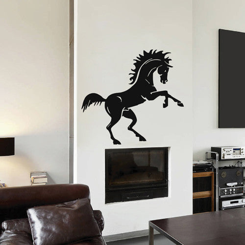ik1869 Wall Decal Sticker horse began to rear living room bedroom