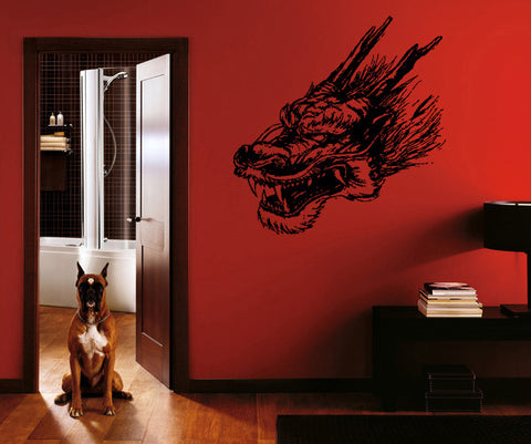 ik186 Wall Decal Sticker Decor dragon fantasy interior bed
