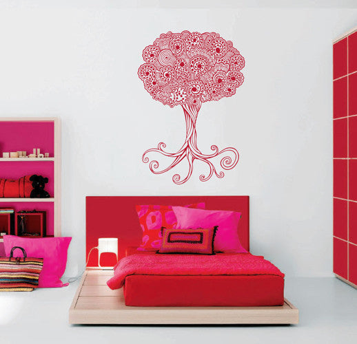 ik1873 Wall Decal Sticker abstract tree openwork bedroom children's room