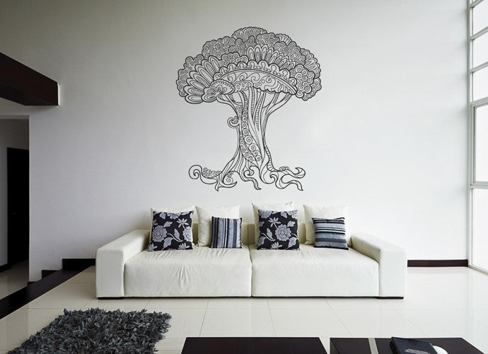 ik1874 Wall Decal Sticker abstract tree openwork bedroom children's room