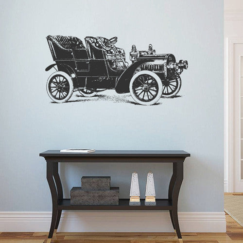 ik1882 Wall Decal Sticker passenger car old retro living room bedroom