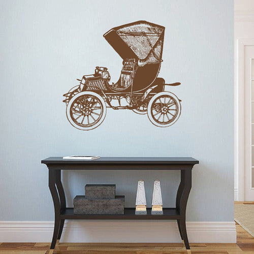 ik1884 Wall Decal Sticker passenger car old retro living room bedroom
