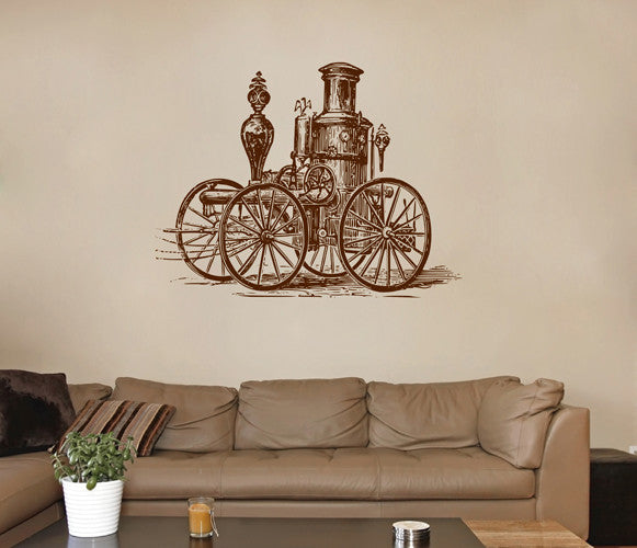 ik1888 Wall Decal Sticker Locomobile steam car old retro living room bedroom