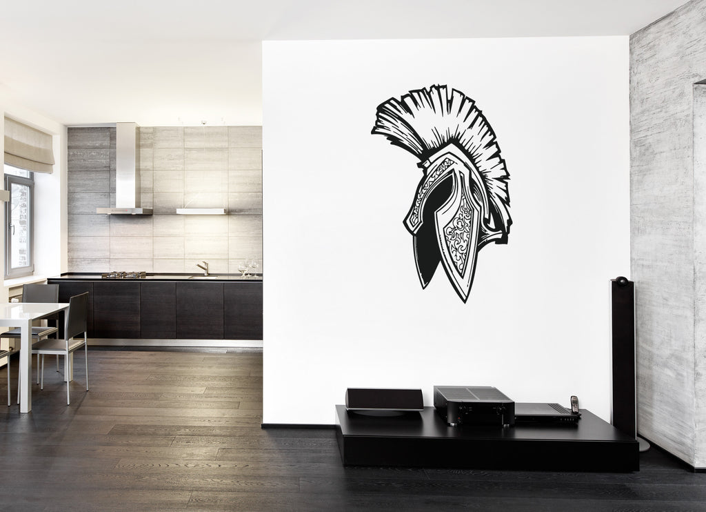 ik188 Wall Decal Sticker Decor helmet Spartan Sparta city Greece legion kids