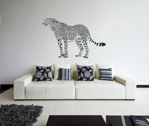 ik190 Wall Decal Sticker Decor African cheetah cat predator safari animal speed