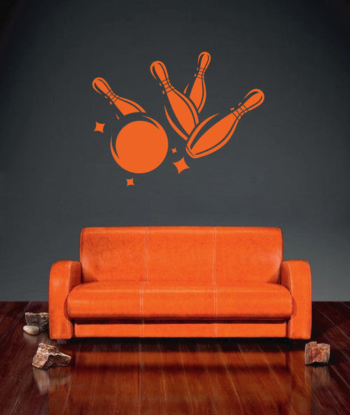 ik1910 Wall Decal Sticker bowling ball sports cafe bar lounge