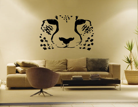 ik191 Wall Decal Sticker Decor African cheetah cat predator safari animal speed