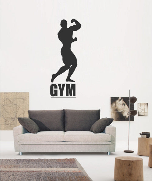 ik1923 Wall Decal Sticker sportsman sport fitness gym doors