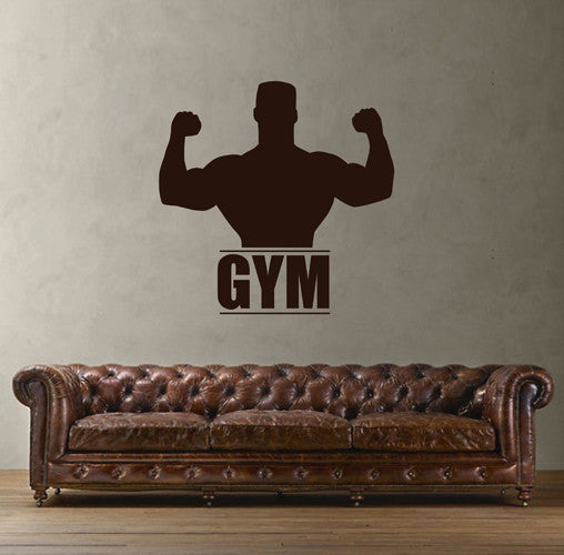 ik1924 Wall Decal Sticker sportsman sport fitness gym doors