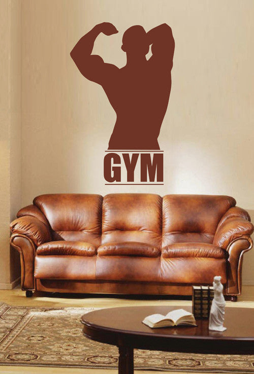 ik1925 Wall Decal Sticker sportsman sport fitness gym doors