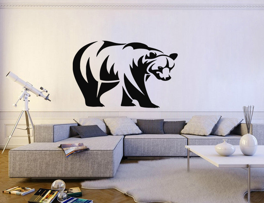 ik192 Wall Decal Sticker Decor American grizzly bear predator animal interior