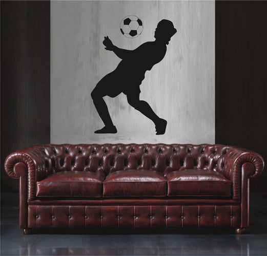 ik1932 Wall Decal soccer football ball sport man living bedroom