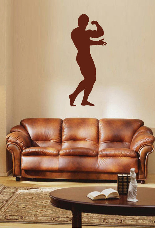 ik1935 Wall Decal Male athlete fitness room sports lounge bedroom gym