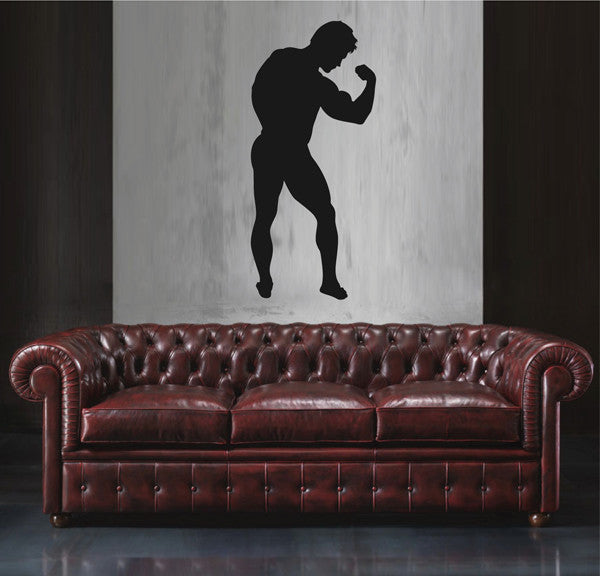 ik1937 Wall Decal Male athlete fitness room sports lounge bedroom gym