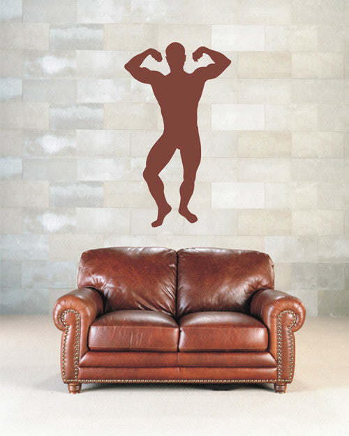 ik1939 Wall Decal Male athlete fitness room sports lounge bedroom gym