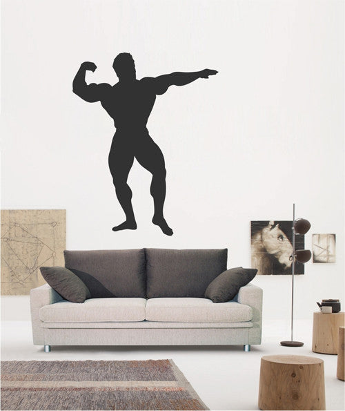 ik1940 Wall Decal Male athlete fitness room sports lounge bedroom gym