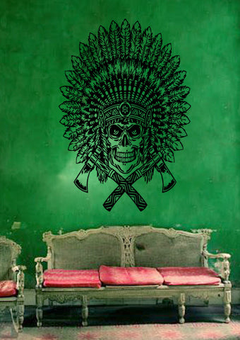 ik194 Wall Decal Sticker Decor leader tomahawk interior bed