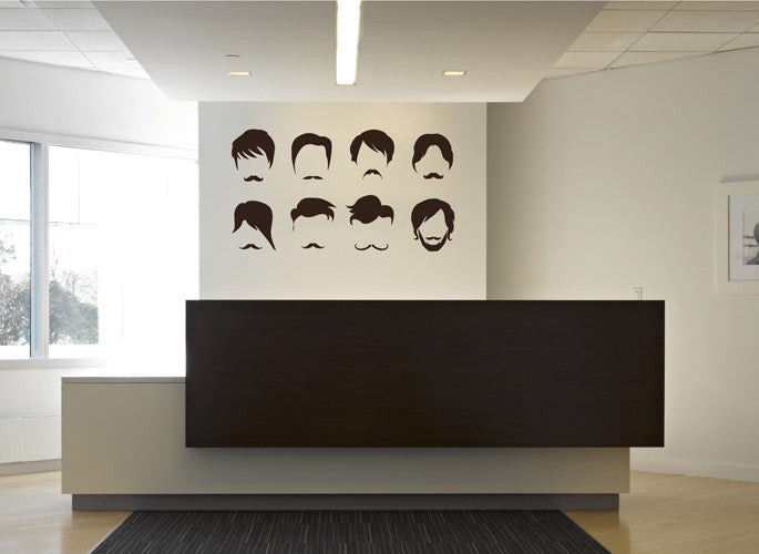 ik1950 Wall Decal Sticker Hall haircut hairstyle male shaving barbershop
